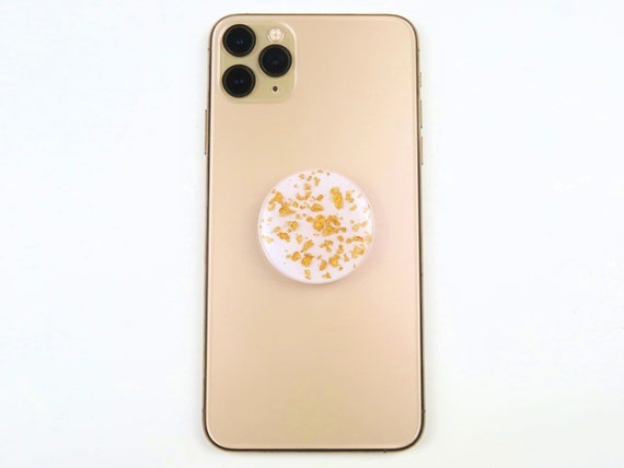 Gold Foil Glitter Resin Phone Grips Stand