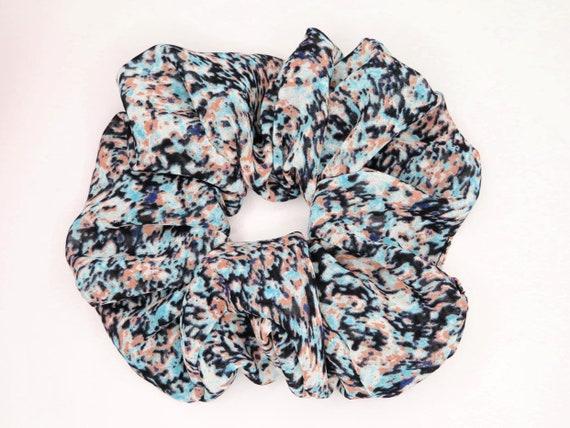 Black and Pastel Confetti Scrunchie