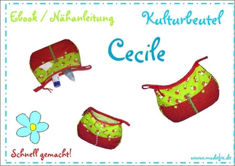 Kulturbeutel Cecile  ca 22x28 cm  Download Anleitung & image 0