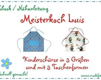 Kinderschürze Luis in 3 Größen * Download Anleitung & Schnittmuster * Ebook * DIY