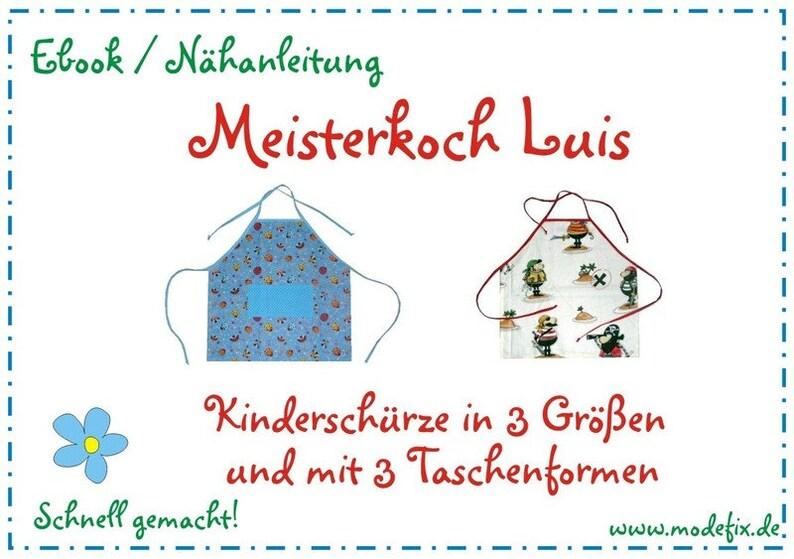 Kinderschürze Luis in 3 Größen  Download Anleitung & image 0