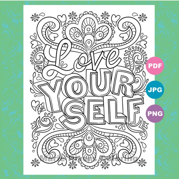 Love Your Self...Women's Empowerment Inspirational Etsy