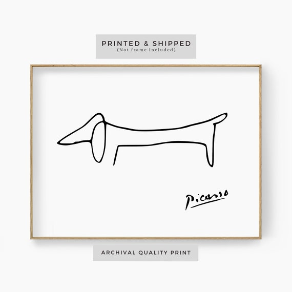 Shop Picasso Dog Line Art Print Picasso Animal Wall Art Picasso from Etsy on Openhaus