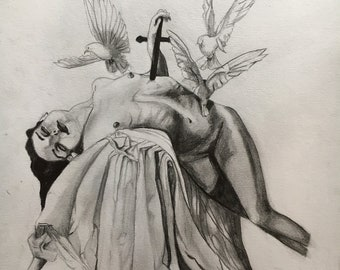 Pencil Drawing PRINT A4