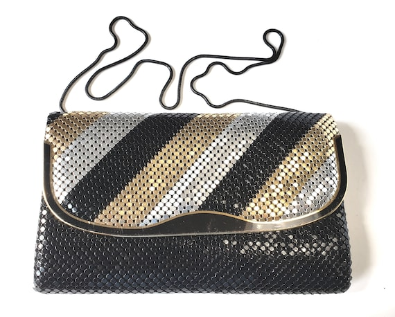 1980s Mixed Metals Mesh Evening Bag Clutch