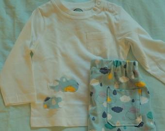 Baby-/Kinder-Pyjama NUAGES