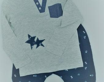 Kinder-Pyjama STARS
