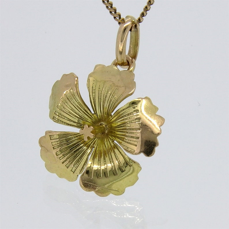 9 ct GOLD  new solid Scottish stone thistle charm
