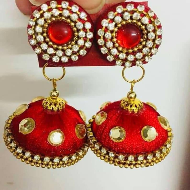 New latest Silk thread fancy designer earring for women and girls