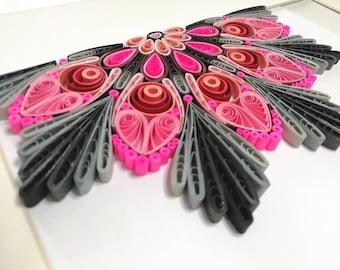 Quilling Mandala 14x19cm Picture Handmade Paper Art 3D Paper Art Half Mandala Wall Decoration Gift Idea DIY Home Decor Spiritual
