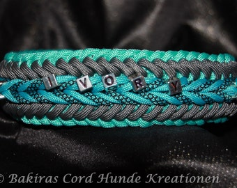"Paracord Dog Collar ""Ivory"" - Handmade"