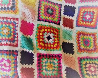 Pattern Granny Square Blanket Etsy