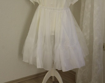 Petticoat white two-stage size. L-XL Underskirt skirt carnival