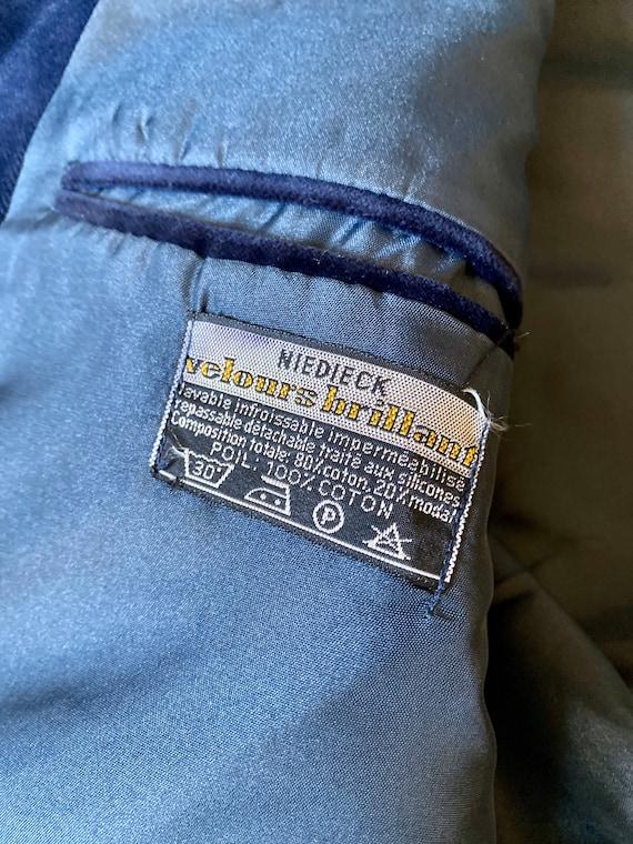 Vintage 70s blazer for men in midnight blue velve… - image 7