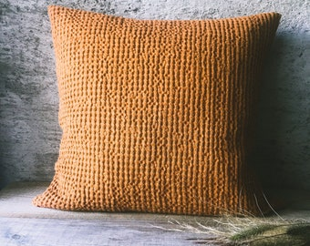 Waffle Pillow Covers Linen