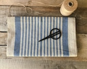 Thick striped linen fabric by the Yard Rough linen fabric by the meter Table textile Towel linen fabric Home textile linen fabric