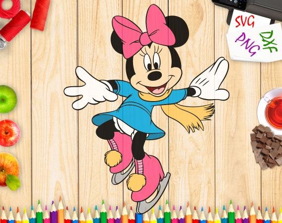 Minnie Mouse DXF - Minnie coupe fichiers, visage de Minnie mouse, studio Silhouette, art de Minnie mouse, Disney Heroes svg, png Disney Heroes - MN299
