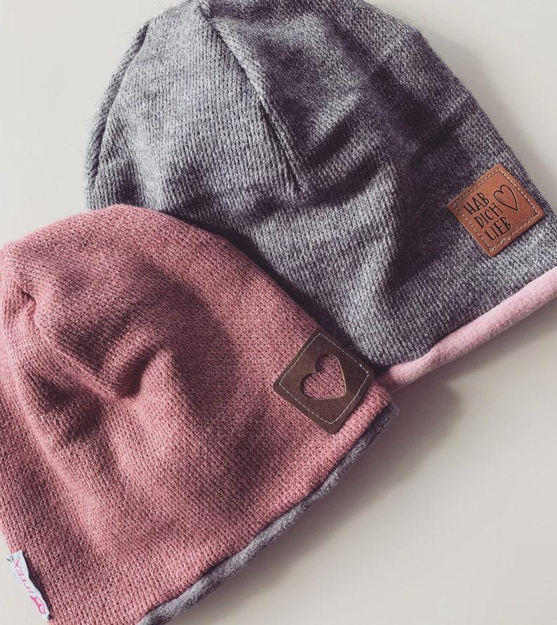 baby child girl warm beanie beanie beanie pink old pink grey