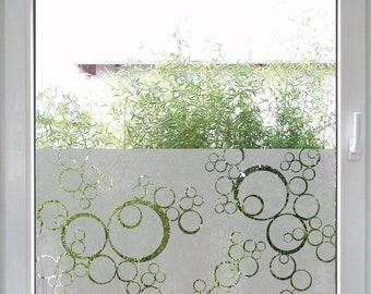 Windowtattoo Bubbles   Milchglasbeklebung   San.