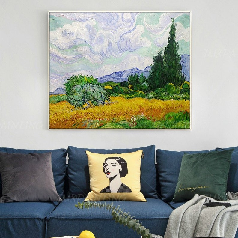Wheat Field Paintings On Canvas Vincent Van Gogh Extra Large Heavy textured Impasto Reproductions Wall Pictures Art For Room Decor