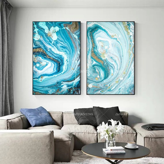 acrylic painting home decoration wall art pour painting table art #7161 12x12 fluorescent floral