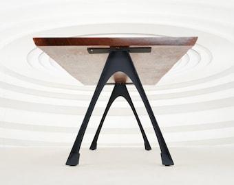 "434 Arlo Table Legs (28.5""H)   Handmade Metal Legs (set of 2 pcs)   Desk Legs, Dining Table Legs, Furniture Legs   FLOWYLINE DESIGN"