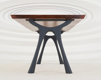 "414 Hatty Table Legs (28.5""H)   Handmade Metal Legs (set of 2 pcs)   Desk Legs, Dining Table Legs, Furniture Legs   FLOWYLINE DESIGN"