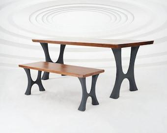 "405 Haru Table Legs (28.5""H)   Handmade Metal Legs (set of 2 pcs)   Desk Legs, Dining Table Legs, Furniture Legs   FLOWYLINE DESIGN"