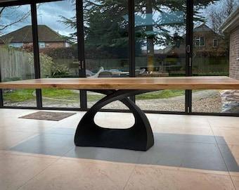 307 Tulipe Table Base | Handmade Metal Pedestal | Desk Pedestal, Dining & Kitchen Pedestal, Furniture Base | FLOWYLINE DESIGN