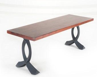 "108 Curva Bench Legs (16"")   Metal Coffee Table Legs (set of 2 pcs)   Furniture Legs   FLOWYLINE METAL DESIGN"