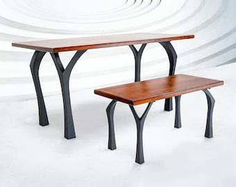 "506 Faras Table Legs (28.5""H)   Handmade Metal Legs (set of 4 pcs)   Desk Legs, Dining Table Legs, Furniture Legs   FLOWYLINE DESIGN"