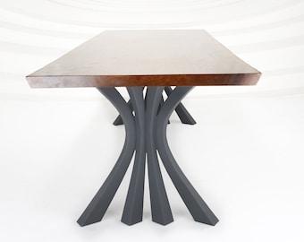 "420 Akro Table Legs (28.5""H)   Handmade Metal Legs (set of 2 pcs)   Desk Legs, Dining Table Legs, Furniture Legs   FLOWYLINE DESIGN"