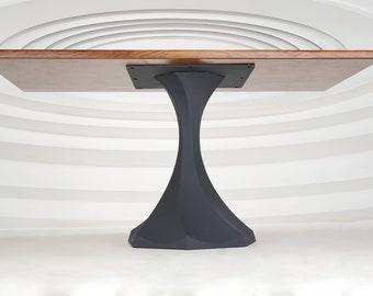 311 Uzar2 Table Base   Handmade Metal Pedestal   Desk Pedestal, Dining & Kitchen Pedestal, Furniture Base   FLOWYLINE DESIGN