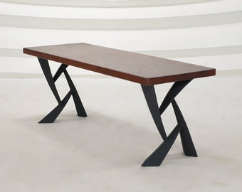 "411 Draco Table Legs (28.5""H)   Handmade Metal Legs (set of 2 pcs)   Desk Legs, Dining Table Legs, Furniture Legs   FLOWYLINE DESIGN"