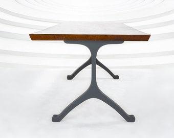 "401 Wishbone (28.5""Hx28''W) Table Legs   Handmade Metal Legs (set of 2 pcs)   Desk Legs, Dining Table Legs, Furniture Legs  FLOWYLINE DESIGN"