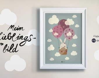 Poster, Nursery Picture, Print, Bunny