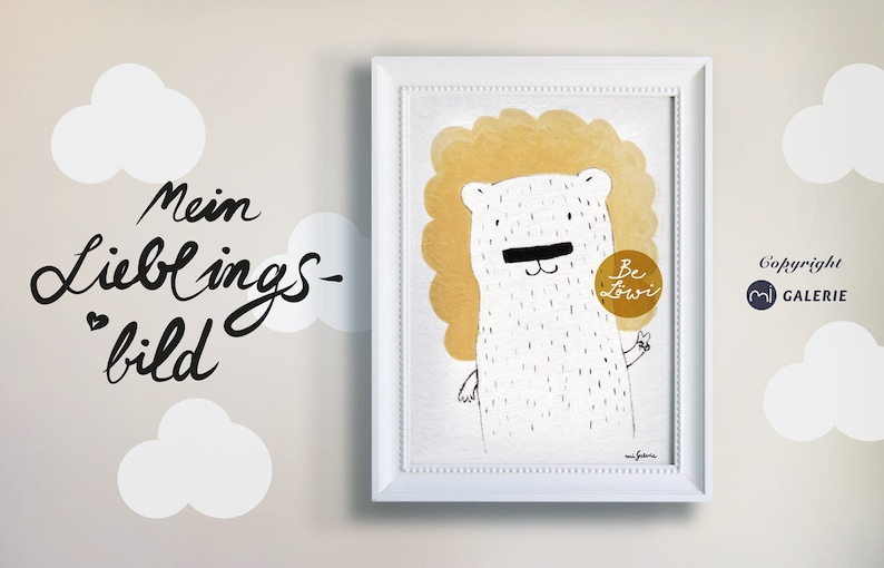 Lions picture poster print painting art print print image 0