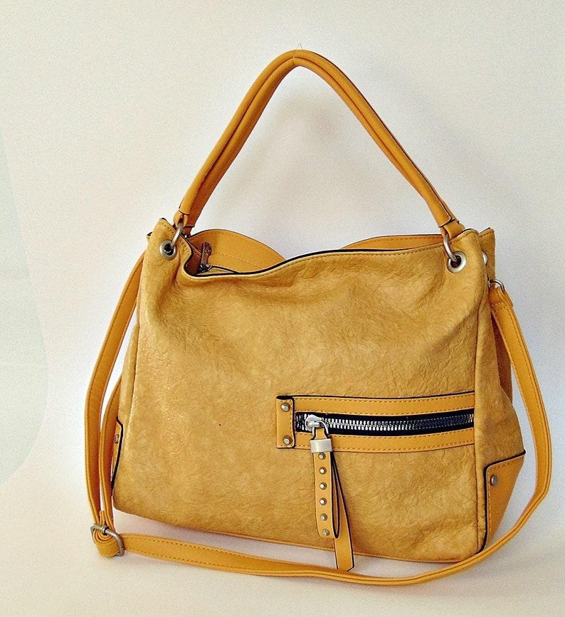 302bfdb2c04a8 Żółta torba z kieszeniami   Etsy