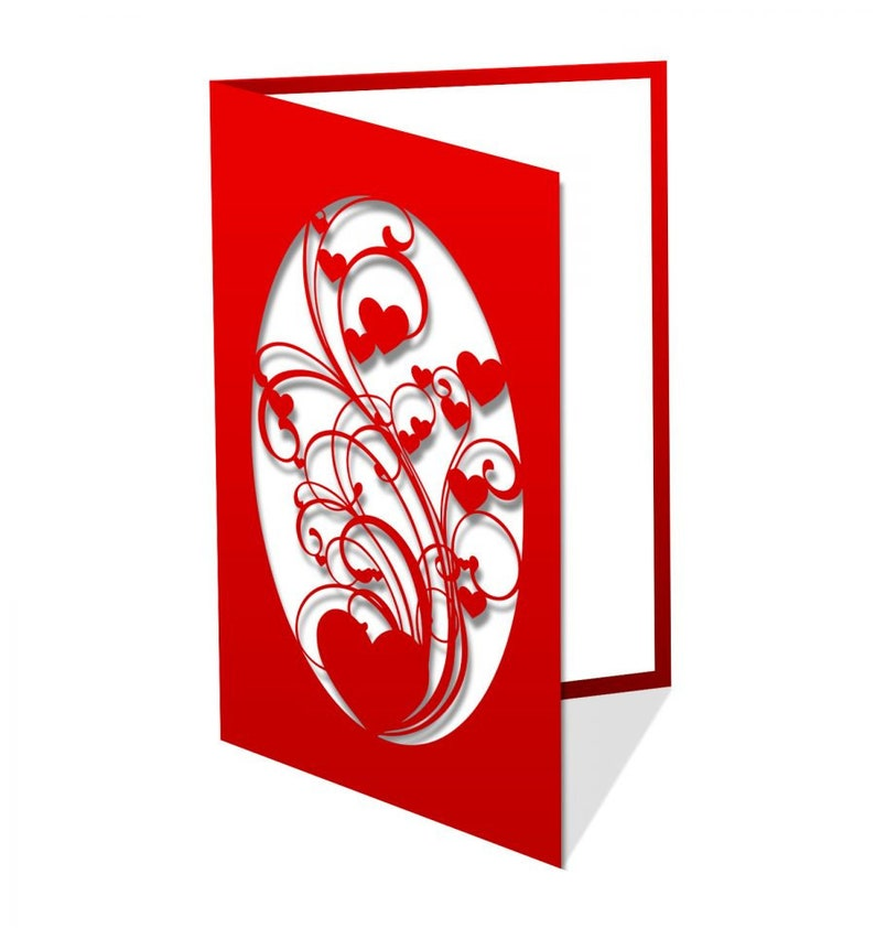 wishes card for lover with heart arabesque