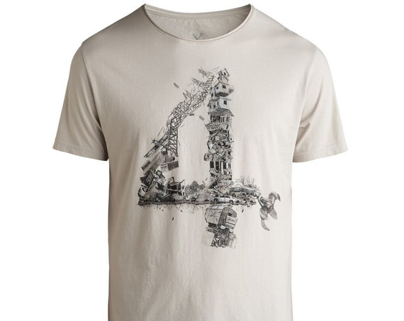 Rakami 4 by Kaft Mens T-Shirt Made By Famous Graphic Designers