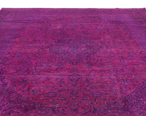 Fuchsia  9'2'' X 13'3'' Ft Persian Kilim Rug , turkish rug, area rug, moroccan rug, boucherouite rug, persian rug, berber rug, wool rug