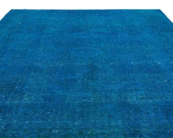 Turquoise  9'5'' X 13'2'' Ft Persian Rug - Turkish Area Rug - Bohemian Rug - Wool Carpet Rug - Hand Knotted Rug - Accent Rug - Hall Rug