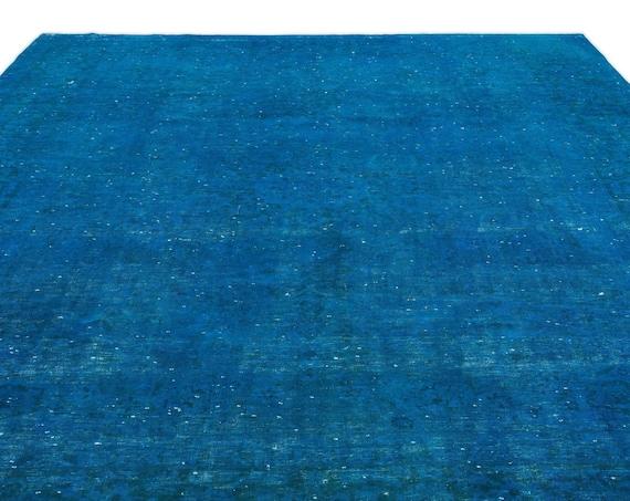 Turquoise  9'5'' X 13'2'' Ft Persian Kilim Rug , turkish rug, area rug, moroccan rug, boucherouite rug, persian rug, berber rug, wool rug