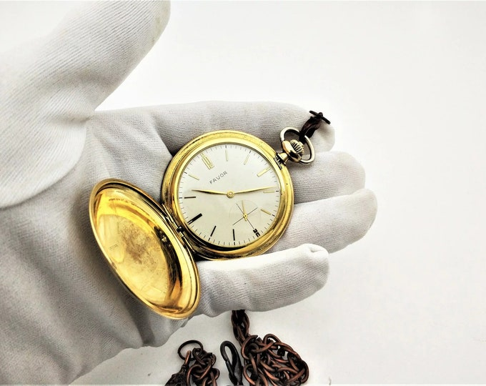 German Favor 1930s Pocket Watch - Personalized Pocket Watch - Mechanical Pocket Watch - Steampunk Pocket Watch - Gift - Present - Steampunk