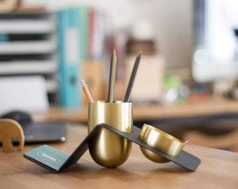 GL Blank Brass Desk Tidy