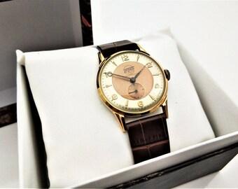 "Swiss ""Thoro"" Vintage Wrist Watch - 1970 s - Gold Plated 15 Rubis Antimagnetic Watch - Wrist Watch - Gift - Men's Accessory - Steampunk"