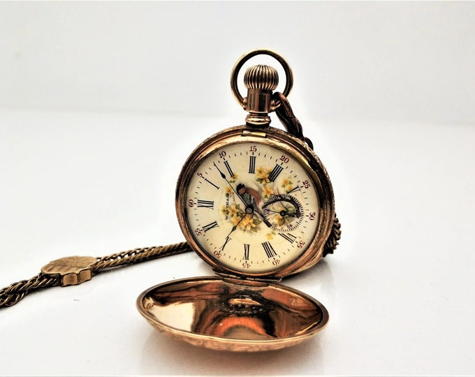 USA Waltham 1900s Pocket Watch - Personalized Pocket Watch - Mechanical Pocket Watch - Steampunk Pocket Watch - Gift - Present - Steampunk