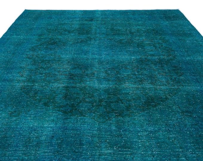 Turquoise Persian Rug 9.6X12.12 Ft, Area Rug, Kilim Rug, Rugs, Boho Decor, Moroccan Rug, Vintage Rug, Turkish Rug, Persian Rug, Oushak Rug