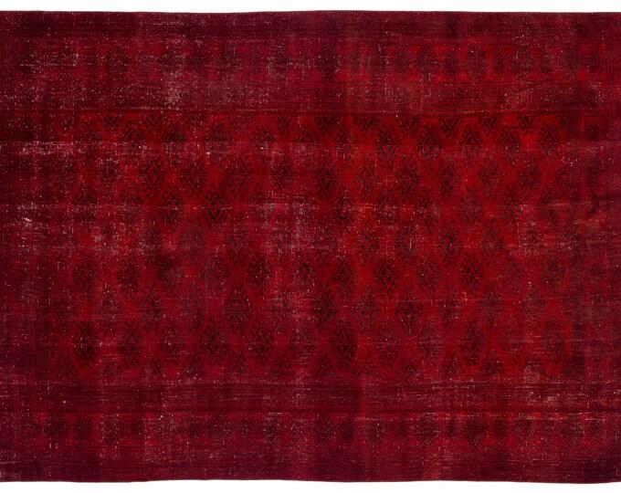 Vintage Rug, Red Rug, 7.10X11.1 Ft, Area Rug, Kilim Rug, Rugs, Boho Decor, Moroccan Rug, Vintage Rug, Turkish Rug, Persian Rug, Oushak Rug