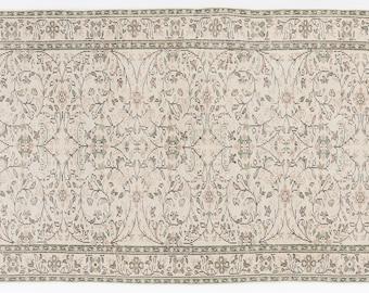 Beige 4'10'' X 8'4'' Ft Vintage Kilim Rug - Turkish Area Rug - Bohemian Rug - Wool Carpet Rug - Hand Knotted Rug - Accent Rug - Hall Rug